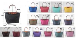 Wholesale Real Leather Totes - Classic women foldable nylon bag fashion brand lc handbag 1899 totes bag real leather hobos bag
