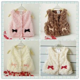 Wholesale Toddler Coats Girls Red - Drop shipping 1Piece Autumn And Winter Baby Waistcoat Boys&Girls Fashion Warm Vest kids Toddler Imitation Fur Outwear Coat