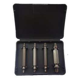 Wholesale High Bolts - S5Q High Speed 4 Screw Extractors Broken Bolt Remover Twist Steel Drill Bits Set AAAFDC
