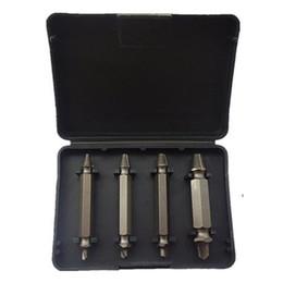 Wholesale Steel Bits - S5Q High Speed 4 Screw Extractors Broken Bolt Remover Twist Steel Drill Bits Set AAAFDC