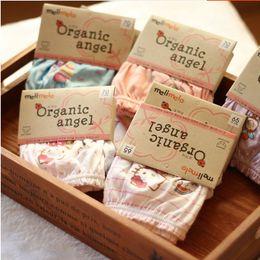 Meninas de algodão orgânico on-line-Crianças cueca crianças Roupa interior do cartão instalado melimelo algodão orgânico meninas cuecas de algodão bebê calções pão calças