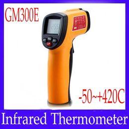 Wholesale Heat Measures - Laser IR Infrared Digital Thermometer Heat Meter Temperature Measuring Gun GM300E 2PCS LOT free shipping