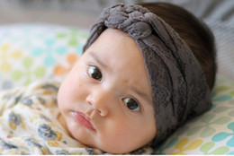 Wholesale Toddler Headband Headwrap - New Baby Stretchy Hollow Out Lace Headwrap Knit Sailor Knot Turban Headband Infant Toddler Baby Girls Hair Accessories