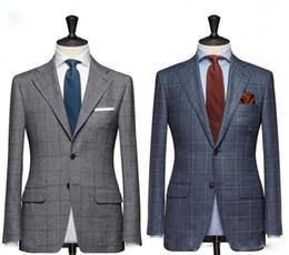 Wholesale Handsome Black Men Suits - 2018 High Quality Custom Made Slim Fit Wedding Suits Groom Tuxedos handsome Suit Formal Suits Best Man Groomsman suits (Jacket+Pants)