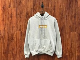 Wholesale Cotton Coats For Men - Men Fleece long sleeves Pullover Hoodies printed box logo for Women men hoodie Sweatshirt hip hop fashion pluz size coats