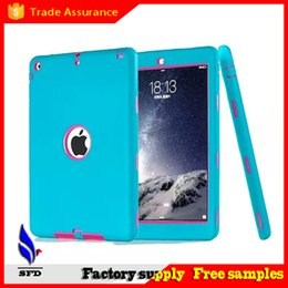 Wholesale Wholesale Cases For Ipad China - 3 in 1 Defender waterproof shockproof Robot Case military Heavy Duty silicon cover for ipad air ipad 234 ipad mini