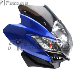Wholesale Honda Fit Sports - PAZOMA STREETFIGHTER STREET FIGHTER UNIVERSAL MOTORCYCLE BIKE HEADLIGHT HEAD LIGHT LAMP NEW FITS DUAL SPORT MOTORCYCLE