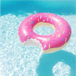 Wholesale Inflatable Huge - Huge Donut Shaped Swim Ring inflatable donut pool float adult pool floats free shipping