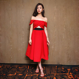 2019 criss cross offenes abendkleid Womens Red Carpet Kleider Criss Cross Straps Open Back Sexy Abendkleider Bateau Backless Tiered Long Party Prom günstig criss cross offenes abendkleid