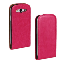 Wholesale Note Vertical Case - Crazy Horse Pattern Wallet PU Leather Vertical Flip Cover Case For Samsung Galaxy S3 S4 S5 Mini S6 Edge Note 2 3 4 A5 A7
