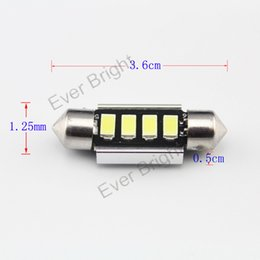 Wholesale 42mm Canbus - 500pcs 4smd 5630 5730 fecstoon led canbus no error festoon 31mm 36mm 39mm 42mm super bright car dome reading styling lights Car Reading lig
