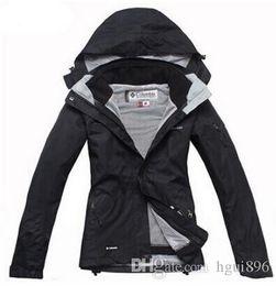 Wholesale Woman Orange Ski Jacket - new fashion women's sport coat winter outdoor jacket 2in1 waterproof breathable hiking jacket ski jacket