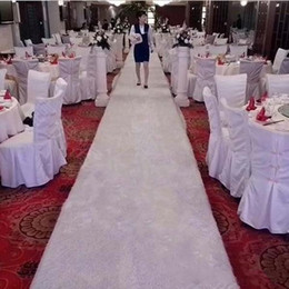 Wholesale White Cake Stands Wholesale - New Arrival 2m Wide X 10 m rol White Plush Wedding Carpet Aisle Runner For Holiday Party Decorations Supplies Free Shipping