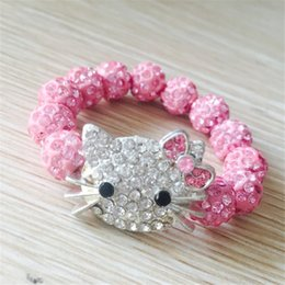 dda4737ce hello kitty charm bracelet Canada - kids gift 1 PCS Hello Kitty Bracelets  for Children Handmade
