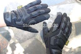 Wholesale Mountain Bike Fingerless Gloves - Wholesale-Free shipping, NEW Sale Mechanix Wear M-Pact tactical Outdoor gloves, full finger mountain bike sports work gloves