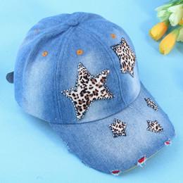Wholesale Korean Stars Cap - Wholesale-Baseball Caps Hot Sale Adult 2015 Fashion Leopard Drilling Hot Star Cowboy Hat All-match Leisure Korean Baseball Cap Duck Tongue