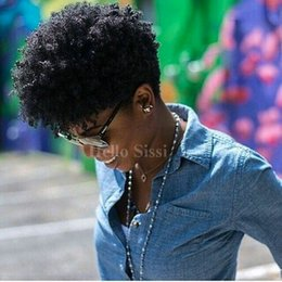 Wholesale Burmese Curly - Tight Afro Kinky Curly Celebrity Tight Curly Glueless Full Lace Chic Cut Short Human Hair Wigs Unprocessed Brazilian Hair Human Hair Wigs