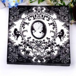 Wholesale Handkerchief Wedding Favors - Wholesale-330MMX330MM colored facial tissue paper napkin paper printing handkerchiefs for wedding birthday favors gift with The angel