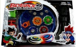 Wholesale Fight Set - Free Shipping 4pcs  Set Beyblade Arena Spinning Top Metal Fight Beyblad Beyblade Metal Fusion Children Gifts Classic Toys