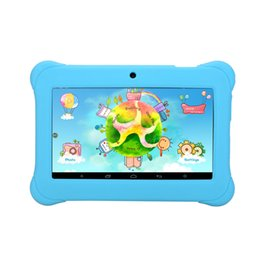 Wholesale Dual Core Tablet Hd Screen - US Stock! 7 Inch iRULU Android4.4 A33 Kids Tablet PC QuadCore Dual Camera Drop Resistance Child Tablets 1024*600 HD Screen