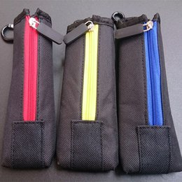 Wholesale Wholesale Cloth Boxes - Carry pouch bag ECig Carring pouch Colorful Cloth Box Case with Hook Zipper Necklace Lanyard Holder for ego evod x6 Mech Mechanical Mod