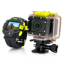 Wholesale Mountaineering Watches - Cmos Sensor G8900 Sports waterproof camcorder Full HD 1920x1080p Eyeshot Wi-Fi Watch Remote Control MINI DVR 60M Water resist Action Camera
