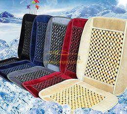 Wholesale Auto Chair Cushion - Natural Wood Bead Seat Cushion Auto Car Home Chair Cover Tan Beaded Seat Cover
