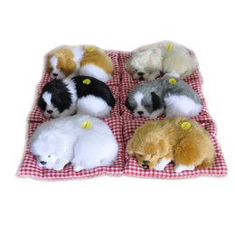 Wholesale Sleeping Cat Plush - Simulation Little Dog With Sound Stuffed Toys Lovely Animal Doll Plush Sleeping Dog Toy Kids Toy Decorations Birthday Gift