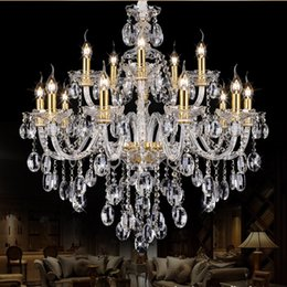 Wholesale Modern Fashion K9 Crystal - Led Light Chandelier Modern Crystal Large Chandeliers Luxury Modern Chandelier Lighting Fashion Luxury Transparent K9 Crystal Droplight