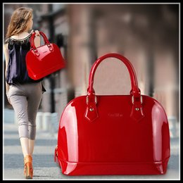 Wholesale plain material - High quality handbag Lady bags Seashell Bag diagonal package China brand handbags PU material 4 Colors Women's Tote 040007