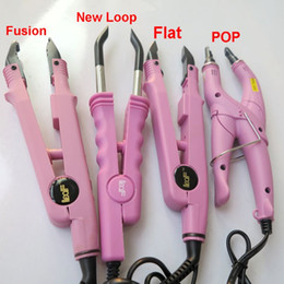 Queratina pelo unido online-Loof Fusion Hair Extension Iron Keratin Bonding Tools Fusion Heat Connector con UK EU AU AU Plug Cuatro stype