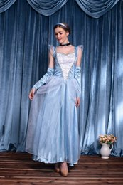 Wholesale Games Princess For Girls - Wholesale-2015 Cosplay Snow White Costumes Princess queen sky blue dress Halloween cosplay costumes for Girl fantasia de princesa