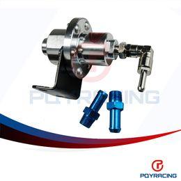 Wholesale Fuel Pressure Regulator Gauge - PQY STORE- SARD Silver Adjustable Turbo Fuel Pressure Regulator FOR RX7 S13 S14 Skyline WRX EVO W O GAUGE PQY7563S
