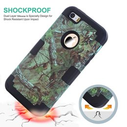 Wholesale Iphone 5c Ballistic - Realtree Shockproof Hybrid Grass Branch Tree Case For Iphone 6 6S Plus 5 5S 5C SE Hard Plastic PC Soft Silicone Ballistic Camo Impact Cover