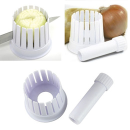 Wholesale Blossom Cutters - One Piece!!Amazing Novelty New Plastic Kitchen Onion Blossom Maker Onion Slicer Cutter Blossom Maker Kitchen Tool