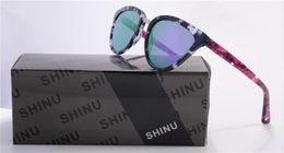 SHINU Vente Chaude Marque Designer Lunettes De Soleil Femmes UV400 Protection Lunettes de Soleil Italie Mode Été cate style Style Lunettes SH013-C2 ? partir de fabricateur