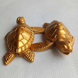 Wholesale Kitchen Smoke - Gold Turtles Tortoise Butane Metal Cigarette Smoking lighter Without Gas For Tobacco Hand Pipes Accessories Tools Kitchen Use