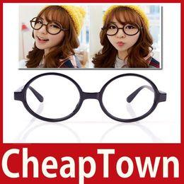 Wholesale Nerd Dress - Wholesale-CheapTown New Unisex Fashion Round Frame Party Fancy Dress Big Nerd Eyeglasses Glasses Save up to 50%