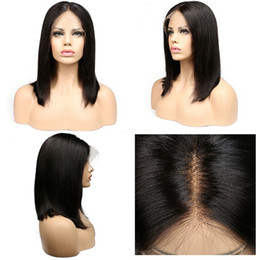 Wholesale Short Wig Cap - Women Medium Short Carve Straight Synthetic Wig Ladies Black Lace Front BOBO Heat Resistant Cosplay Wigs High Quality Artificia Hair Caps