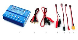 Wholesale Rc Helicopter Battery Chargers - F00032 F00428 SKYRC iMAX B6 Mini 60w Lipo Balance Charger Discharger & 12V5A AC Power Adapter for RC Battery Helicopter Drone