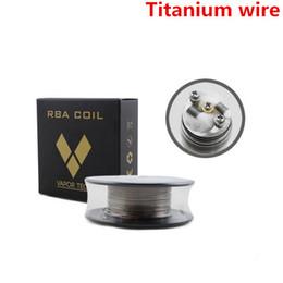 Wholesale Heating Controls - VaporTech Titanium Heating Wire Resistance 30 Feet AWG 24 26 28 30 Gauge Coil For Temp Control TC Mod RDA RBA Atomizer DHL