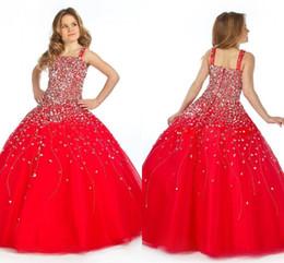 платья для вечеринок Скидка 2019 винтаж принцесса красный тяжело бисероплетение длиной до пола, бальное платье для детей выпускного вечера платья для малышей девочек блестящие театрализованные платья HY1281