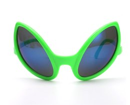 Wholesale full alien costume - New Fashion Alien Shaped Sunglasses Halloween Funny Glasses Novelty Crazy Cosplay Costume Christmas Birthday Festival Decoration Party Props