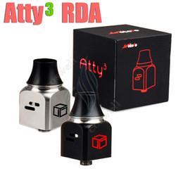 Wholesale Magic Vaporizer - New ATTY3 RDA Mods Rebuildable atomizer ATTY3 Atty 3 V3 wotofo vaporizer mod 22mm chuff cap 510 drip tips Magic Cubed RBA Tank
