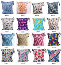 Wholesale Silver Swimsuit Wholesale - Newborn Waterproof Zippered Wet Dry Bag Laundry - Owl Wet   Dry Cloth Diaper Bags Wet Swimsuit Bag Animal Printed by Melee WetBag 33*28cm