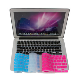 "Wholesale 17 Laptop Skin - Keyboard Stickers Silicone Keyboard Cover Skin for Apple for Macbook Pro MAC 13"" 15"" 17"" US Version Free Shipping"