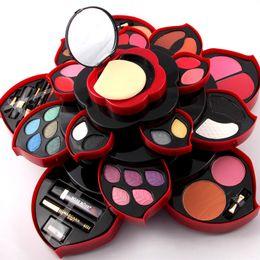 Gerichte machen online-Rotierende Farbpalette Make-up-Box Kosmetik-Set Beauty-Tool Make-up-Lidschatten-Schale Make-up-Pflaumenblüten-Etui Lippenstift-Eyeliner-Set