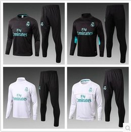 Wholesale Track Suits Jackets - 17 18 Real Madrid soccer Tracksuit RONALDO ASENSIO Track suits jacket 2017 2018 Real Madrid chandal training suits sports wear kits