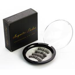 Wholesale Longer Hair - Three magnet 3D magnetic false eyelashes Natural hand-made 3 Magnetic False Eyelashes Eye lashes Beauty Makeup Accessories