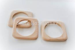 Wholesale Unfinished Wood Bangle Bracelets Wholesale - free shipping! 20pcs lot Unfinished wood Square bangle bracelet UW-002